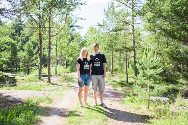 Owners and cottages hosts Susanne & Fredrik